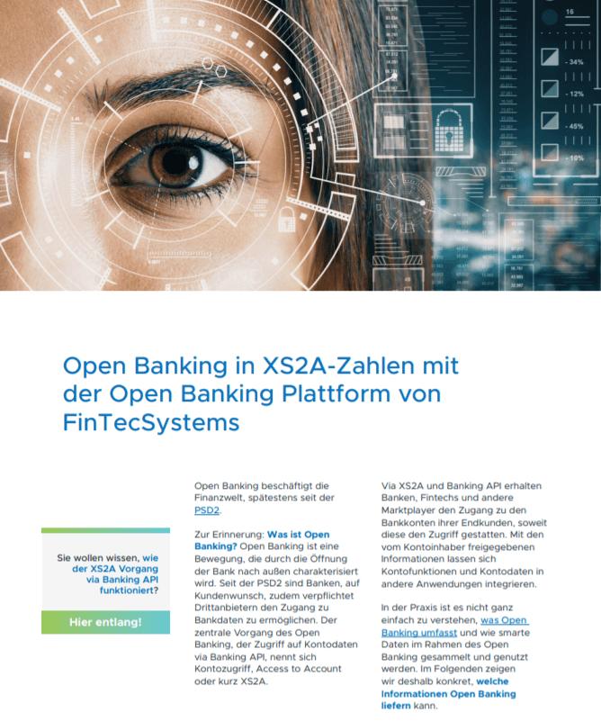 Open Banking in XS2A-Zahlen