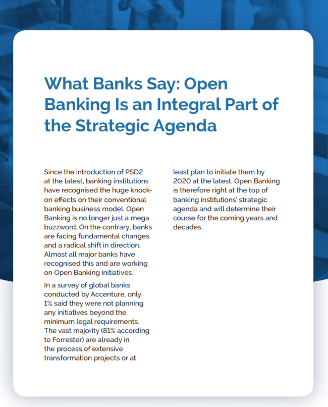 Open Banking as Strategic Agenda