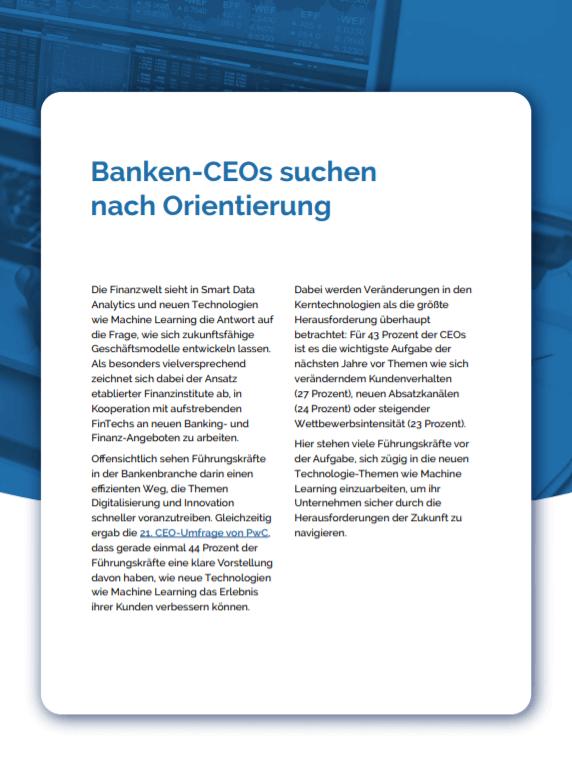 Banken CEOs suchen nach Unterstützung