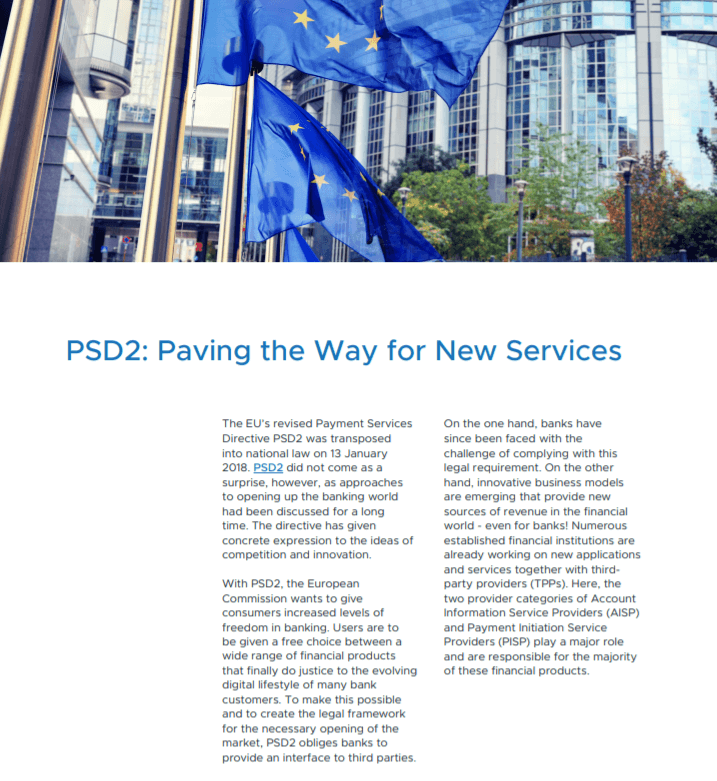 PSD2 enables new Services
